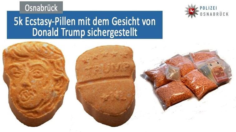 Comprimidos de ecstasy em forma de Trump apreendidos na Alemanha