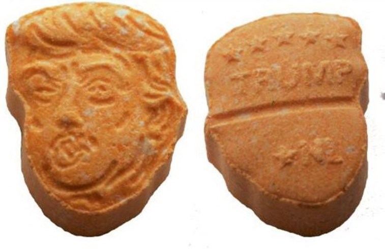 Polícia alemã apreende pílulas de ecstasy com rosto de Trump