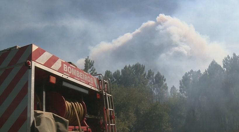 Incêndio em Cantanhede corta A14