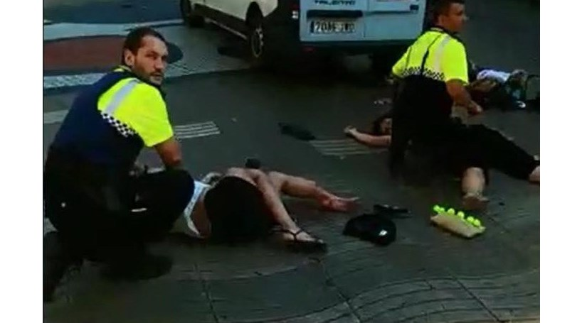 As imagens do ataque terrorista no centro de Barcelona