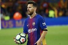 Barcelona goleia com 'póquer' de Messi e mantém-se destacado na liga espanhola