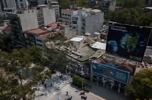 A destruição provocada pelo sismo no México vista do céu