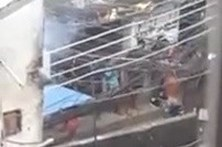 Gangs disparam contra a polícia na favela da Rocinha