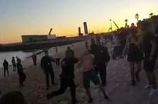 Segurança de Ronaldo em rixa na praia