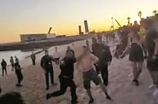Segurança de CR7 em rixa na praia