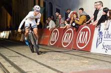 Ciclista voltaram a subir a terrível subida da Calaçada da Glória, em Lisboa