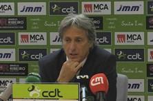 Jorge Jesus reconhece falta de intensidade no empate com o Moreirense
