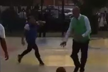 Marcelo 'apanhado' a jogar basquete em escola portuguesa de Luanda