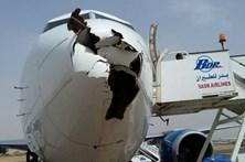 Colisão com pássaro destrói 'nariz' de avião