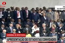 Marcelo assobiado na tomada de posse do presidente de Angola