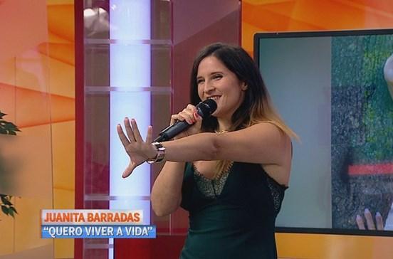Juanita deslumbra no Manhã CM