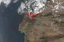 NASA divulga imagens de Portugal a ser consumido pelas chamas