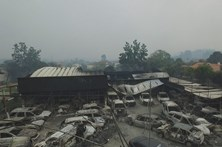 Drone mostra destruição causada pelo fogo em Tondela