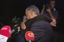 Marcelo consola vítima dos incêndios