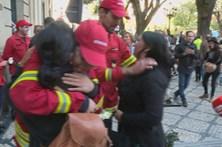 Bombeiros não foram esquecidos durante manifestação em Viseu
