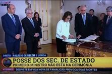 TVI24 ignora António Costa na tomada de posse dos novos ministros