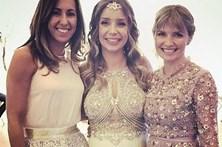 Luciana Abreu muda de vestido no casamento