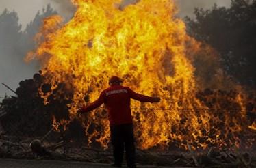 Vítimas dos incêndios mostram o terror nas redes sociais