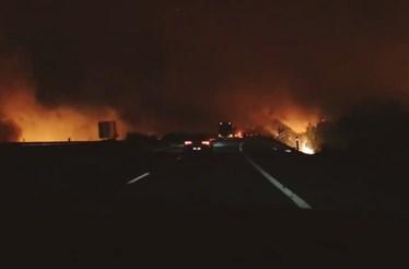 Automobilistas registam inferno das chamas na A17
