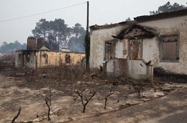 Chamas ferem seis bombeiros e destroem casa em Leiria