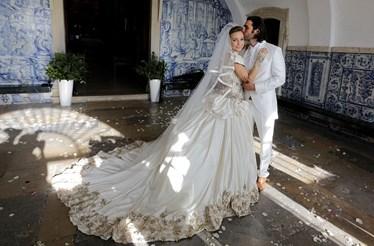 Luciana casa-se grávida de gémeos