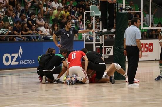 Benfica agradece a Sporting assistência a jogador lesionado