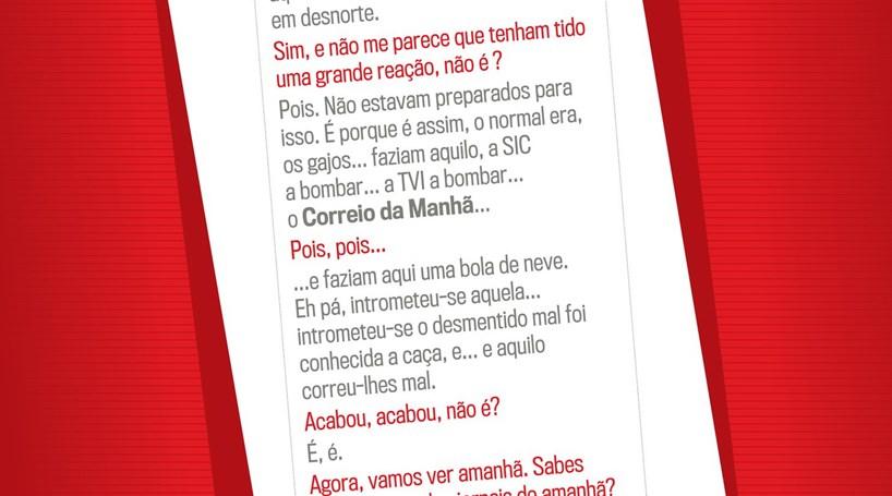 Escutas entre Afonso Camões e José Sócrates