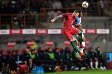 Imagens do jogo solidário de Portugal-EUA