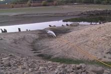 Camiões abastecem barragem de Fagilde