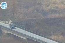 Fuga de desertor norte-coreano para Sul captada por câmaras de segurança