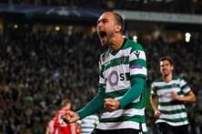 As imagens do Sporting - Olympiakos