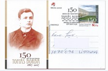 Postal assinala 150 anos do compositor Tomás Borba