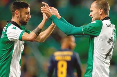 Bruno Fernandes e Rui Patrício garantem vitória do Sporting