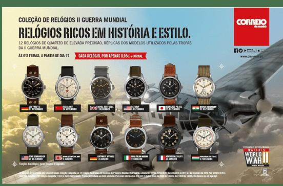 Coleção de Relógios II Guerra Mundial