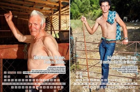 Pastores mais belos da Serra da Estrela reunidos em calendário