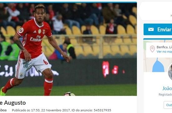 """Futebolista Felipe Augusto """"à venda"""" no OLX"""
