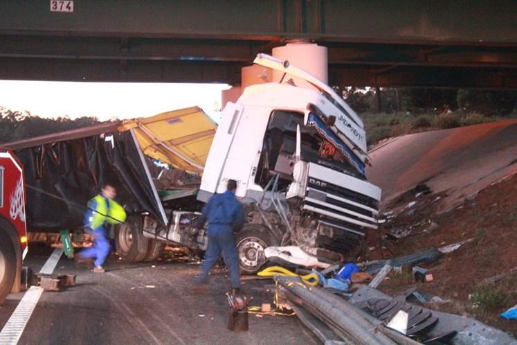 Despiste de camião cortou circulação na A1 durante a madrugada