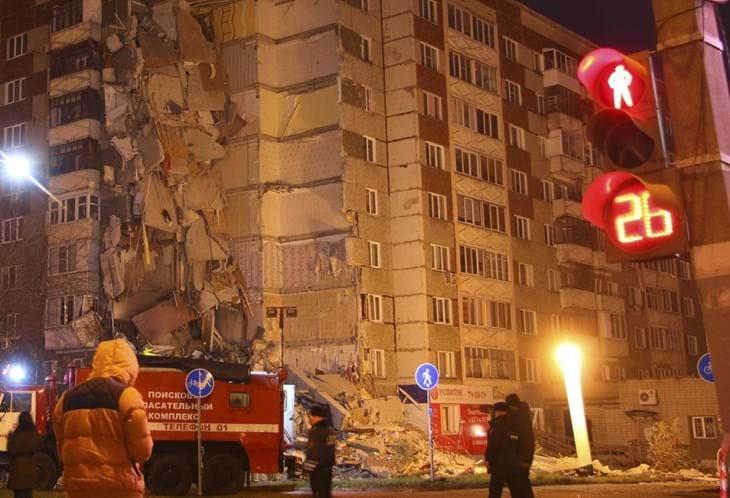 Vídeo mostra momento da explosão e colapso de um prédio na Rússia