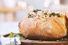 Receita de bacalhau no pão