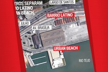 Cem metros separam o Barrio Latino do Urban Beach