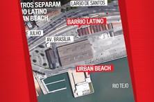 Cem metros separam o Barrio Latino do Urban Beach