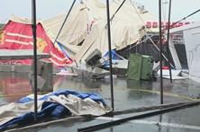 Circo destruído em Matosinhos