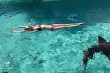 Filma mulher a ser atacada por tubarão