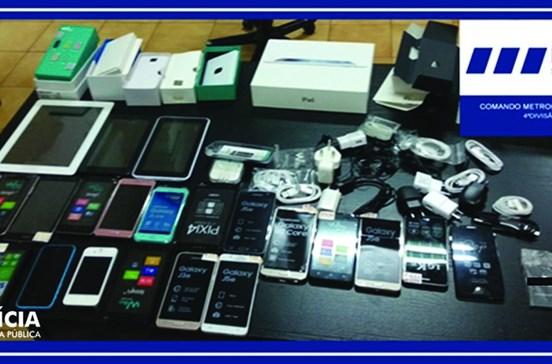 Dois menores caçados por furto em loja de produtos eletrónicos