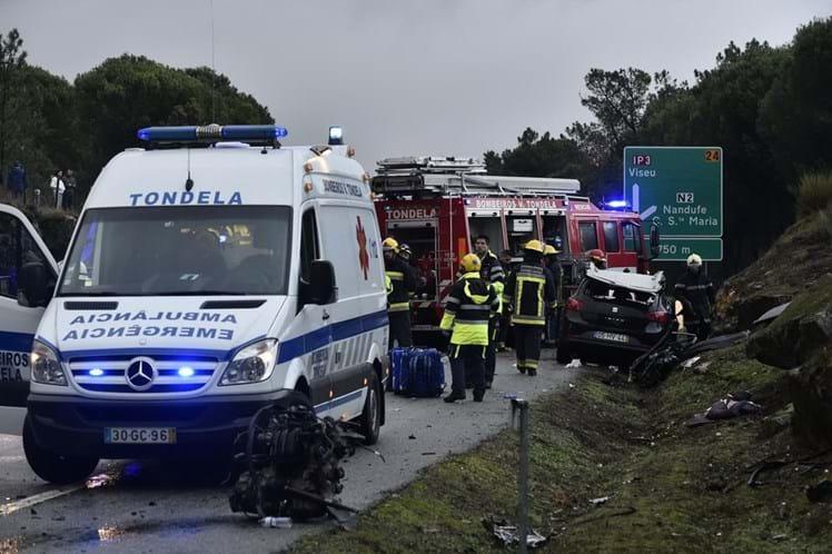 Colisão no IP3 faz um morto e seis feridos graves