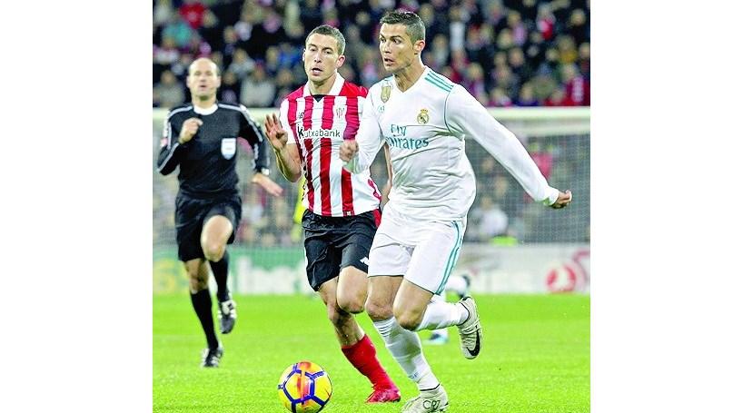 Real Madrid empata em San Mamés e não aproveita escorregadela do Barça