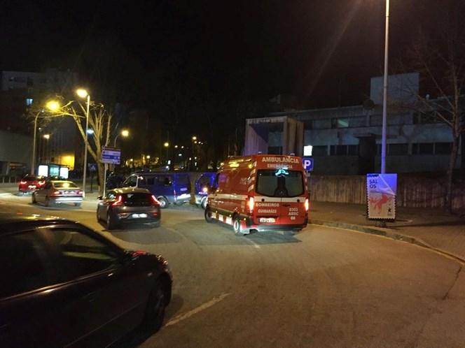 Vitória-Braga: confrontos entre adeptos no exterior do D. Afonso Henriques