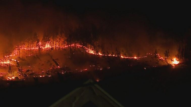 Queimada descontrolada gerou fogo florestal em Guimarães