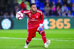 Keylor Navas tem  32 anos e é guarda-redes do Real Madrid