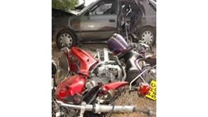 Pai e filho motards morrem em colisão